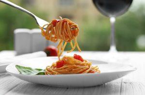 dining on fresh pasta
