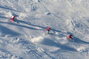 Ski School Aerial View.